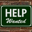 Help Wanted Sign — Stock Photo #65170345