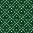 Green and White Shells with Interlocking Circles Tiles Pattern R — Stock Photo #65170601