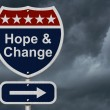 Hope and Change Sign — Stock Photo #65290287