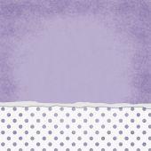 Square Purple and White Polka Dot Torn Grunge Textured Backgroun — Foto de Stock