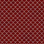 Red and White Shell Tiles Pattern Repeat Background — Stock Photo