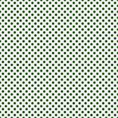 Dark Green and White Small Polka Dots Pattern Repeat Background — Stock Photo