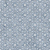 Pale Blue and White Celtic Cross Symbol Tile Pattern Repeat Back — Stock Photo