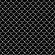 Black and White Shell Tiles Pattern Repeat Background — Stock Photo #66060421