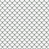 Green and White Shell Tiles Pattern Repeat Background — Stock Photo
