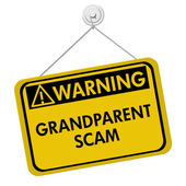 Grandparent Scam Warning Sign — Stock Photo