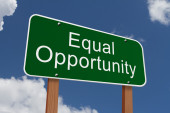 Equal Opportunity Sign — Stock Photo