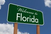 Welcome to Florida Road Sign — Stock Photo
