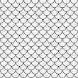 Black and White Shell Tiles Pattern Repeat Background — Stock Photo #67807621