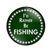 I'd Rather Be Fishing Button — Stock Photo