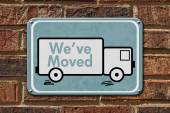 We have Moved Sign — Stock Photo