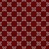 Red and White Flower Symbol Tile Pattern Repeat Background — Stock Photo