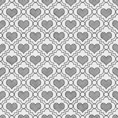 Gray and White Chevron Hearts Tile Pattern Repeat Background — Stock Photo