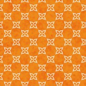 Orange and White Flower Symbol Tile Pattern Repeat Background — Stock Photo