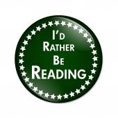 I'd Rather Be Reading Button — Stock Photo