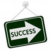 Success This Way Sign — Stock Photo
