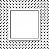 Black and White Polka Dot Background with Frame — Stock Photo