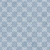 Pale Blue and White Flower Symbol Tile Pattern Repeat Background — Stock Photo