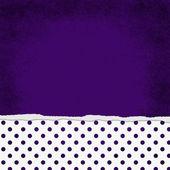 Square Purple and White Polka Dot Torn Grunge Textured Backgroun — Stock Photo