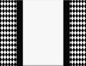 Black and White Diamond Frame with Ribbon Background — Stock Photo