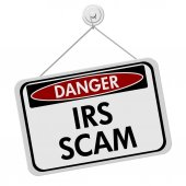 IRS Scam Danger Sign — Stock Photo