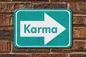 Karma Sign — Stock Photo