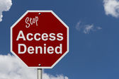Stop Access Denied Road Sign — Stock Photo