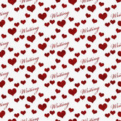 Red and White I Love Writing Tile Pattern Repeat Background — Stock Photo