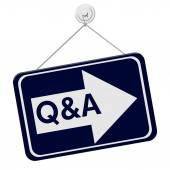 Q&A This Way Sign — Stock Photo