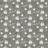 Gray and White Medical Marijuana Tile Pattern Repeat Background — Stock Photo