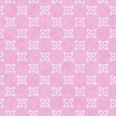 Pink and White Flower Symbol Tile Pattern Repeat Background — Stock Photo