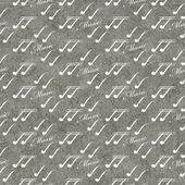 Gray and White Music Symbol Tile Pattern Repeat Background — Stock Photo