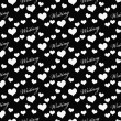 Black and White I Love Writing Tile Pattern Repeat Background — Stock Photo #71643411