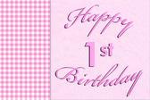 Happy 1st Birthday — Stock Photo
