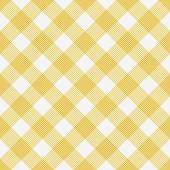 Yellow and White Striped Gingham Tile Pattern Repeat Background — Stock Photo