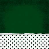 Square Green and White Polka Dot Torn Grunge Textured Background — Stock Photo