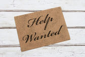 Help Wanted Card — Stock Photo
