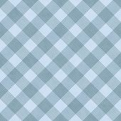Blue Striped Gingham Tile Pattern Repeat Background — Stock Photo