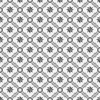 Black and White Eight Pointed Pinwheel Star Symbol Tile Pattern  — Stock Photo #71939747