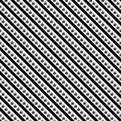 Black and White Marijuana Leaf and Stripes Pattern Repeat Backgr — Stock Photo