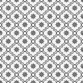 Black and White Eight Pointed Pinwheel Star Symbol Tile Pattern  — Stock Photo