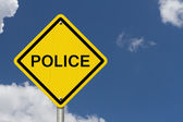 Police Caution Road Sign — Stock Photo