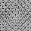 Gray and Black Question Mark Symbol Pattern Repeat Background — Stock Photo #72138777