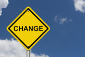 Change Warning Sign — Stock Photo