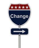 Change Sign — Stock Photo