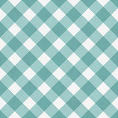 Teal and White Striped Gingham Tile Pattern Repeat Background — Stock Photo