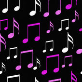 Pink, White and Black Music Notes Tile Pattern Repeat Background — Stock Photo