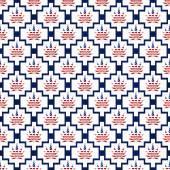 Blue and White USA Marijuana Tile Pattern Repeat Background — Stock Photo