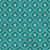 Teal and White Celtic Cross Symbol Tile Pattern Repeat Backgroun — Stock Photo