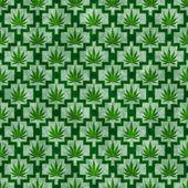 Green Marijuana Tile Pattern Repeat Background — Stock Photo